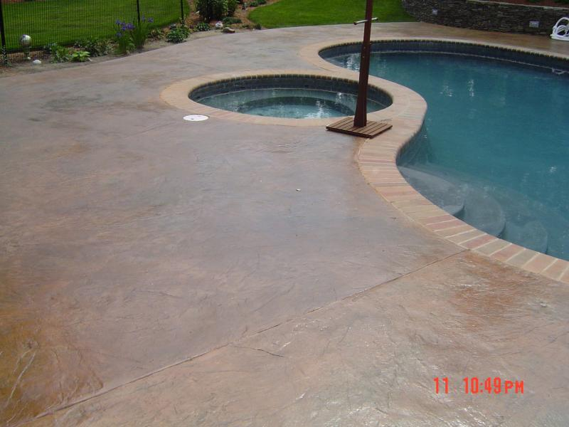 Artistic Concrete Featured Stamped Concrete Pool Deck