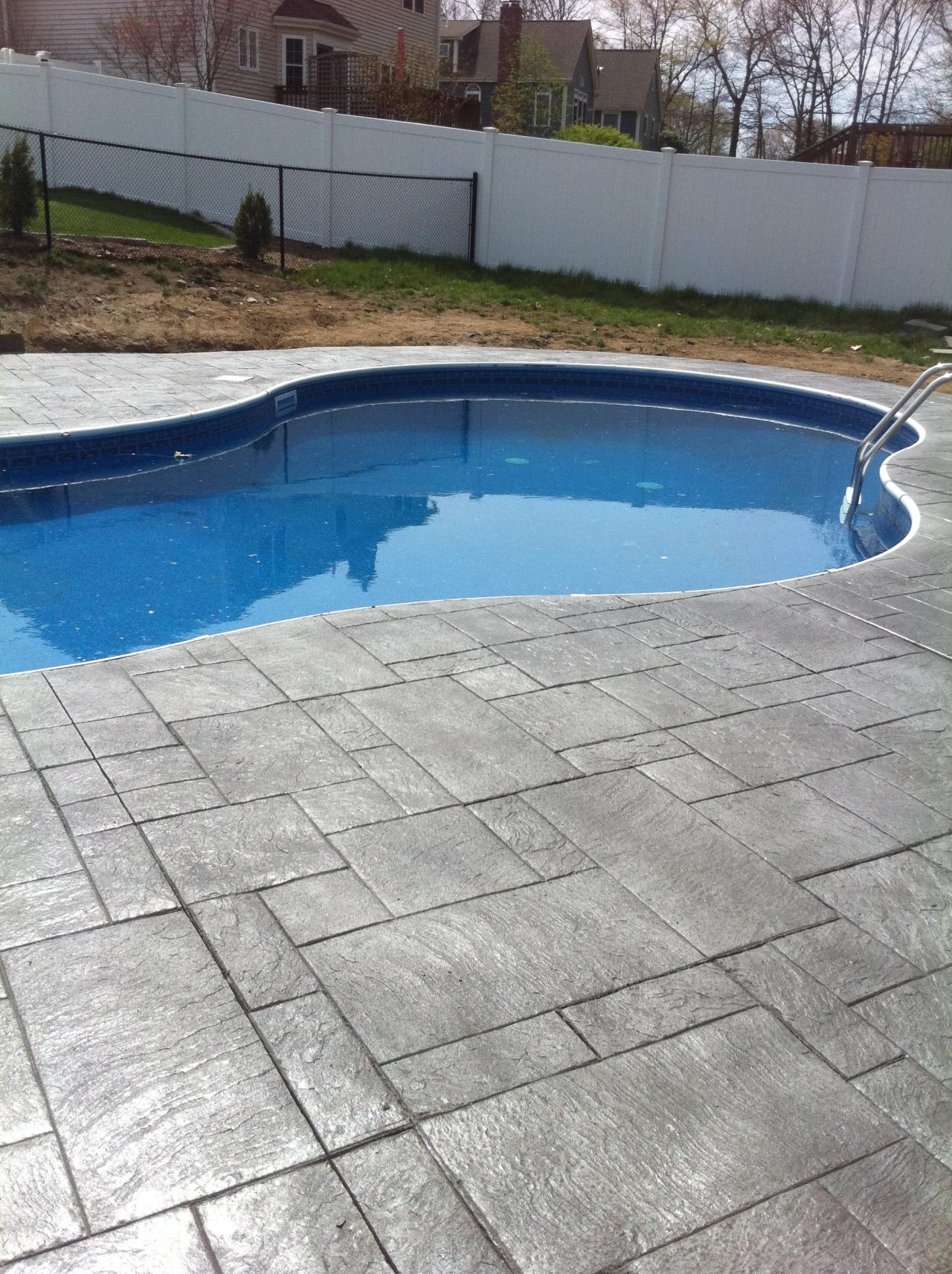 Artistic Concrete Stamped Concrete Pool Aprons Pool