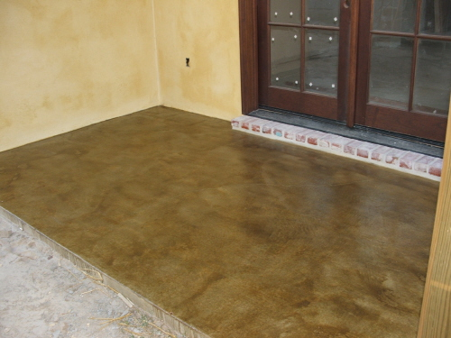 Stained Concrete Exterior Applications. Outdoor Patio LastiSeal ...