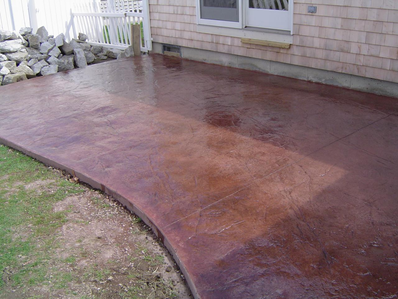 stained stamped concrete patio. Concrete Contractors RI. \ Stained Stamped Patio Artistic - ARTISTIC CONCRETE STAMPED RI