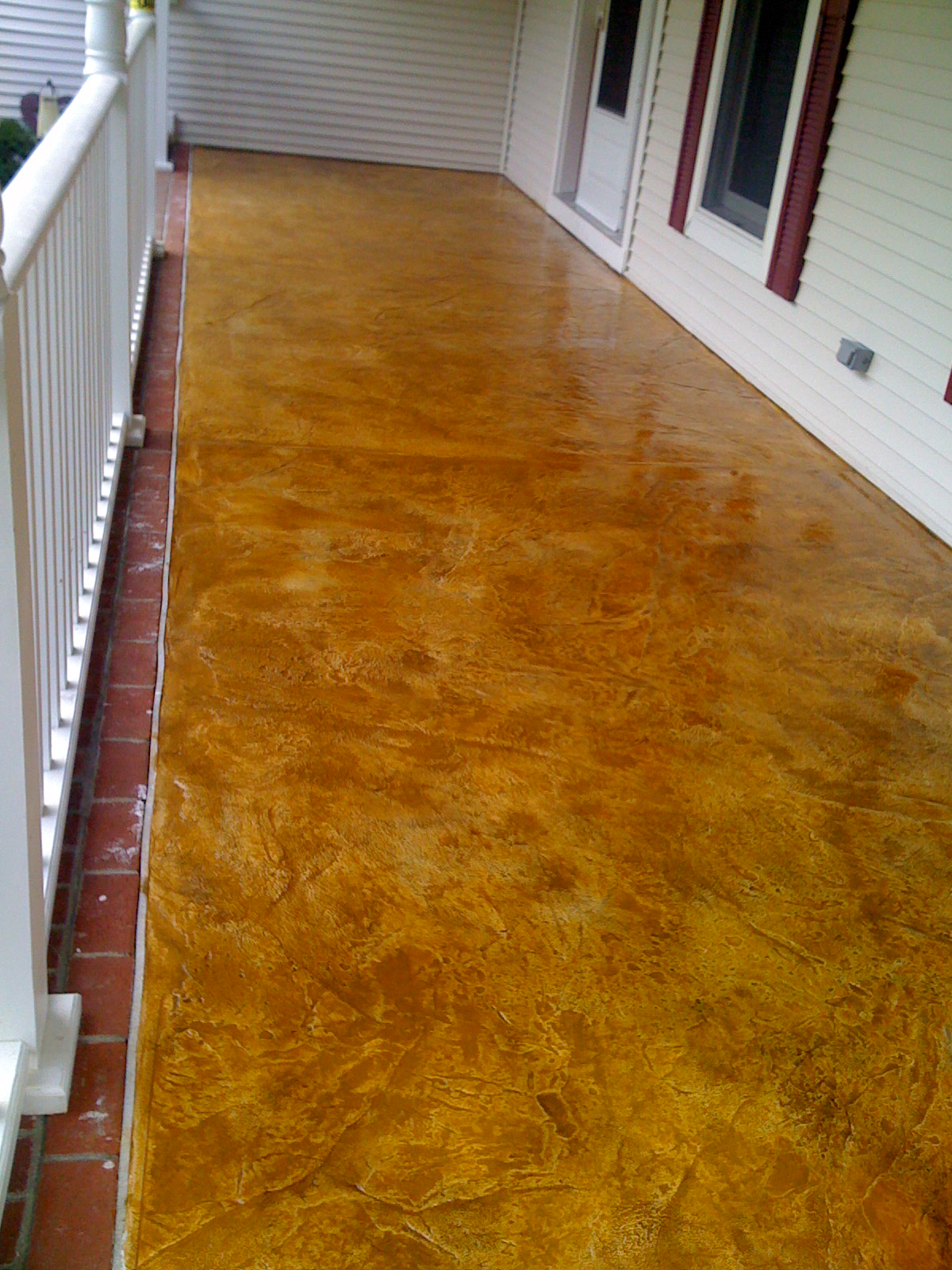Concrete Stampable Overlay Then Stained