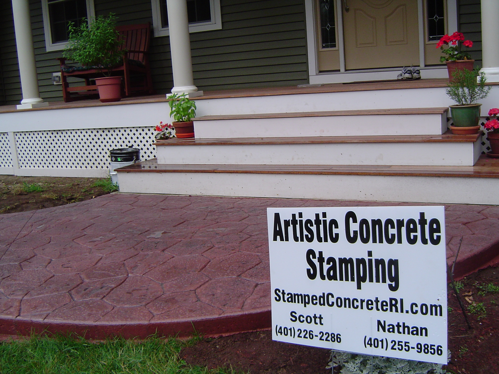 Artistic Concrete Contact Us We Service All Of Rhode
